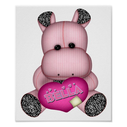 Bella Hippo Poster