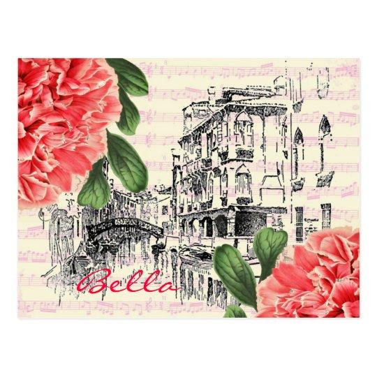 Bella Italy peony Postcard