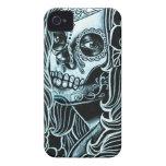 Bella Morte Day of the Dead Sugar Skull Girl iPhone 4 Cases