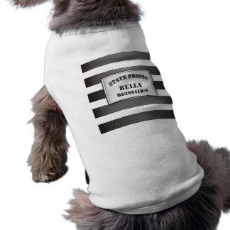 Bella - Pet Dog Prison T-Shirt tshirt Sleeveless Dog Shirt