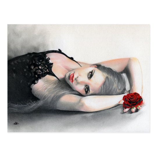 Bella Rosa Beauty red rose Postcard