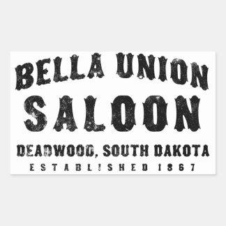Bella Union Saloon Rectangular Sticker