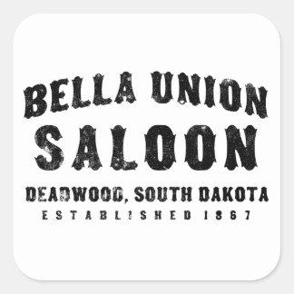Bella Union Saloon Square Sticker