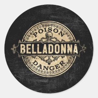 Belladonna Vintage Style Poison Label