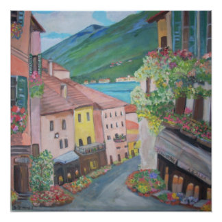 Bellagio town, Italy Poster