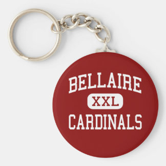 Bellaire - Cardinals - High - Bellaire Texas Basic Round Button Key Ring