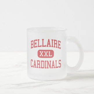 Bellaire - Cardinals - High - Bellaire Texas Frosted Glass Mug