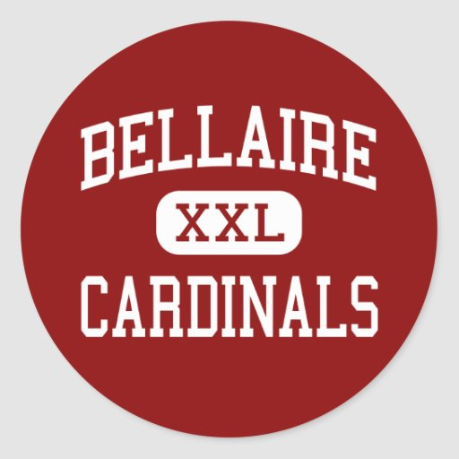 Bellaire - Cardinals - High - Bellaire Texas Round Stickers