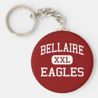 Bellaire - Eagles - High - Bellaire Michigan Basic Round Button Key Ring