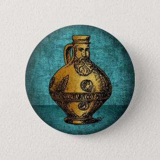 Bellarmine Witch Bottle 6 Cm Round Badge