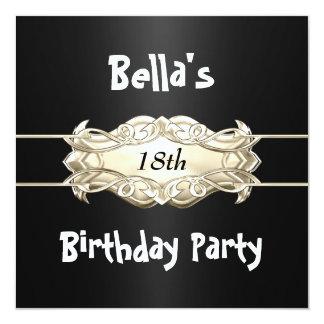 Bella's 18th birthday invitation
