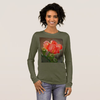 Bella's Long Sleeve Tee - Cactus Bloom in Red