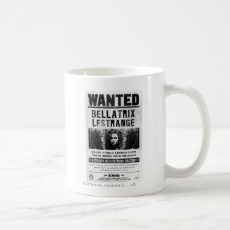 Bellatrix Lestrange Wanted Poster Basic White Mug