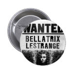 Bellatrix Lestrange Wanted Poster Buttons