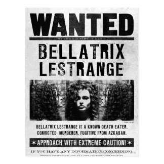 Bellatrix Lestrange Wanted Poster Postcard