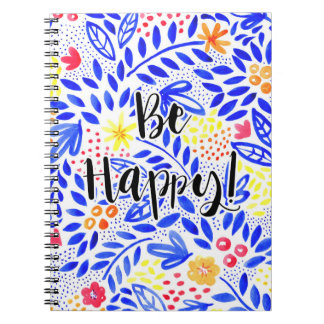 Belle Be Happy Spiral Notebook