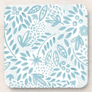 Belle Blue Floral Coaster Set