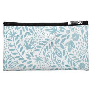 Belle Blue Floral Cosmetics Bag