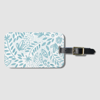 Belle Blue Floral Luggage Tag