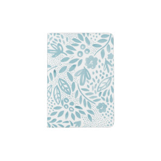 Belle Blue Floral Passport Holder