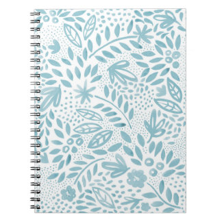 Belle Blue Floral Spiral Notebook