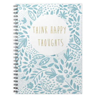 Belle Blue Happy Thoughts Notebook