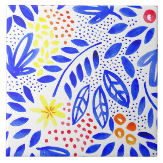 Belle Bold Floral Ceramic Tile - 1