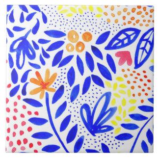Belle Bold Floral Ceramic Tile - 2