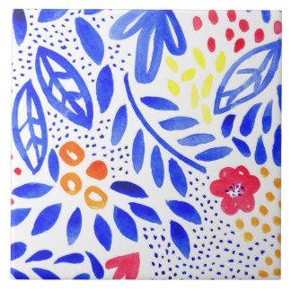 Belle Bold Floral Ceramic Tile - 3