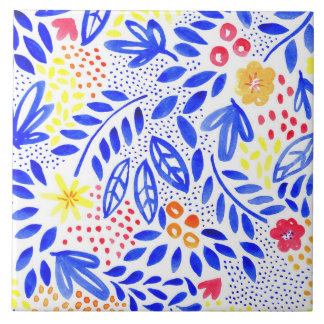 Belle Bold Floral Ceramic Tile - 4