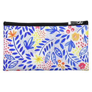 Belle Bold Floral Cosmetics Bag