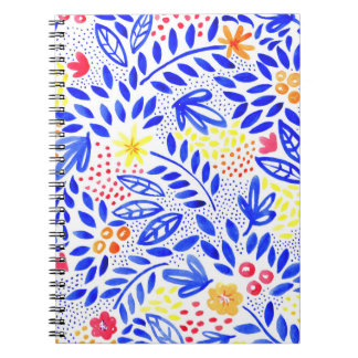 Belle Bold Floral Spiral Notebook