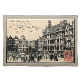 Belle epoque Bruxelles Grand' Place birds' market Placemat