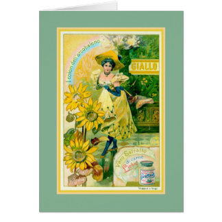 Belle epoque Italian meat extract advertising Greeting Card