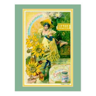 Belle epoque Italian meat extract advertising Postcard