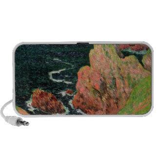 Belle Ile oil on canvas iPhone Speakers