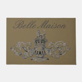 """""""Belle Maison"""" Vintage Heraldic Coat of Arms Doormat"""