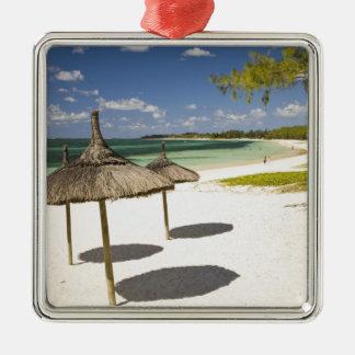 Belle Mare Public Beach, Southeast Mauritius, Silver-Colored Square Decoration