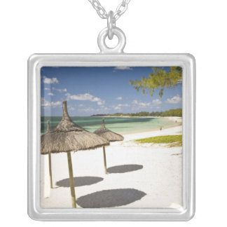Belle Mare Public Beach, Southeast Mauritius, Silver Plated Necklace