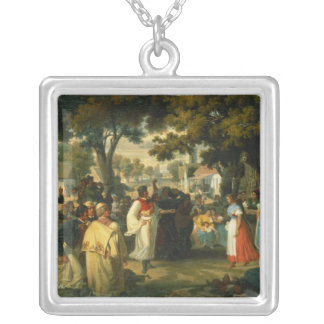 Belle of the Village is asked for a Dance Silver Plated Necklace