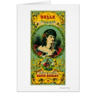 Belle of Virginia Tobacco LabelPetersburg, VA Card