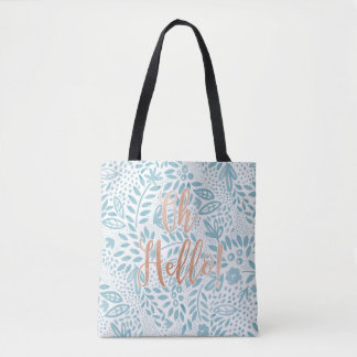 Belle Oh Hello Floral Tote Bag