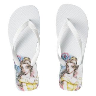 Belle Princess Sandals Beauty and the Beast Flip Flops