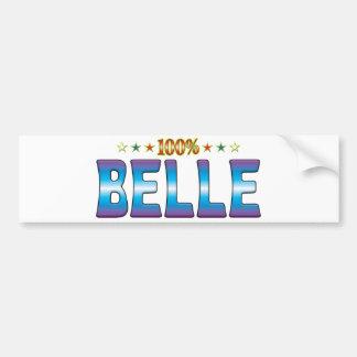 Belle Star Tag v2 Bumper Stickers