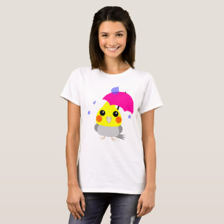 Belle, the Cockatiel/Parrot, stuck in the rain T-s T-Shirt