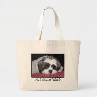 Belle The Shih Tzu Dog Large Tote Bag