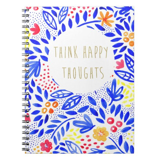 Belle Think Happy Thoughts Notebook
