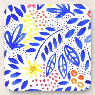 Belle Watercolour Floral Coaster Set