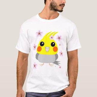 BelleBelle cockatiel/bird w Cherry Blossoms sakura T-Shirt