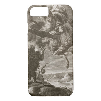 Bellerophon Fights the Chimaera, 1731 (engraving) iPhone 8/7 Case